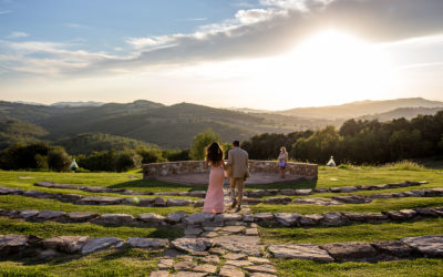 Intimate elopement in Tuscany at Casali di Casole